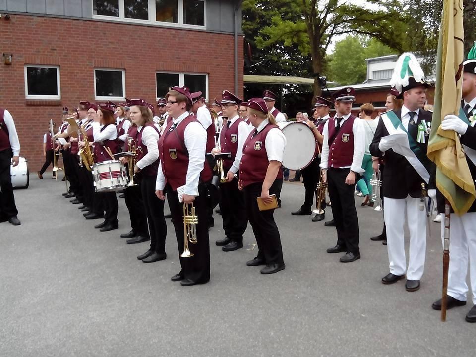Hochmoor Schützenfest Antreten